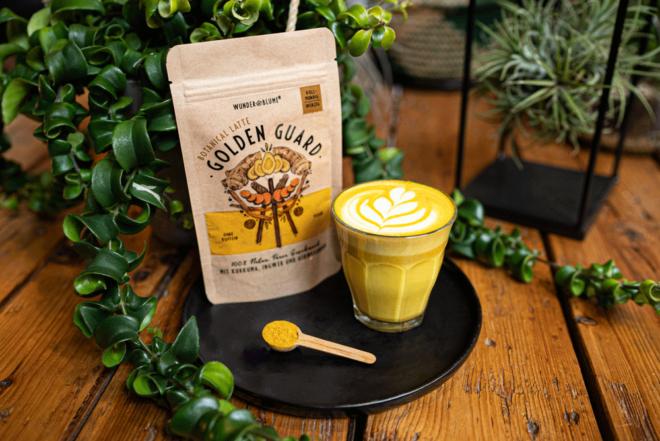 Wunderblume - Gelbe Botanical Latte - Ingwer - Kurkuma - Ashwaghanda - Mood The Greens