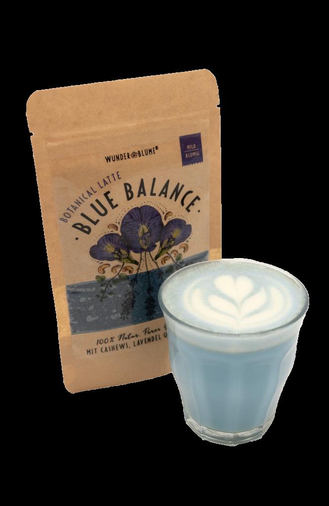 Botanical Latte - Cashews, Lavendel, Weihrauch - Packung & Getränk
